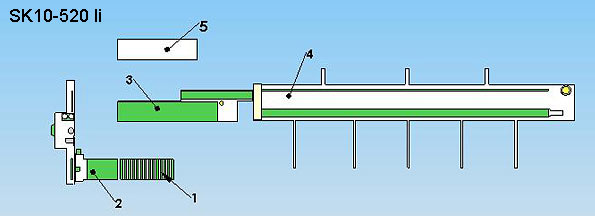 Layout Semiautomatic Finger-jointing line SK 10
